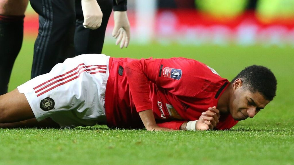 แรชฟอร์ด กองหน้าตัวเก่ง ของแมนเชสเตอร์ยูไนเต็ด ได้รับอการบาดเจ็บ ทางผู้จัดการทีมอย่าง โอเล กุนนาร์ โซลชา ได้ออกมา
